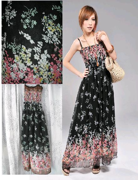 BOHEMIAN MAXI TUBE DRESS (BLACK) - RM 44.00