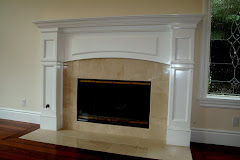 CUSTOM BUILT FIRE MANTEL