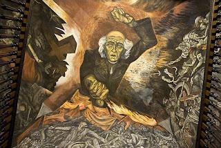 Jos clemente orozco miguel hidalgo y los murales de el for El hombre de fuego mural de jose clemente orozco