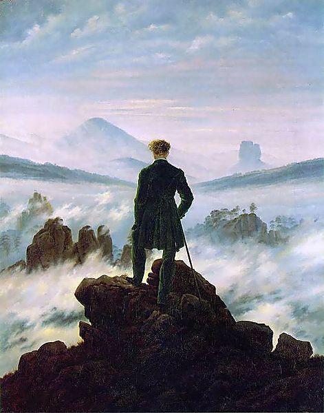 """""""El caminante sobre el mar de nubes"""", Fiedrich"""