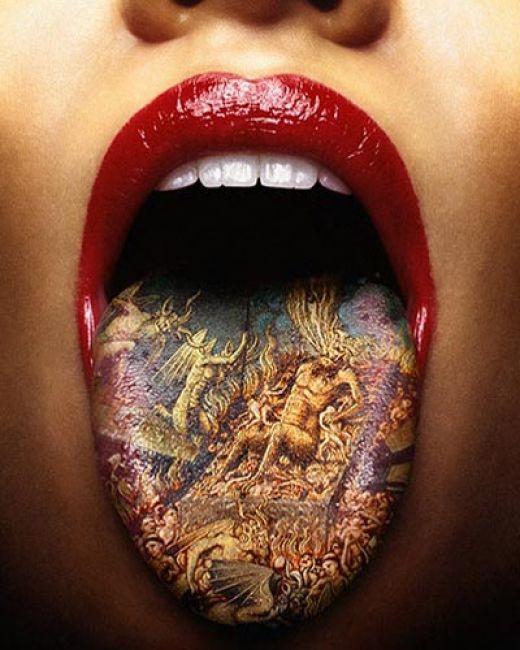 Labels: tongue tattoo