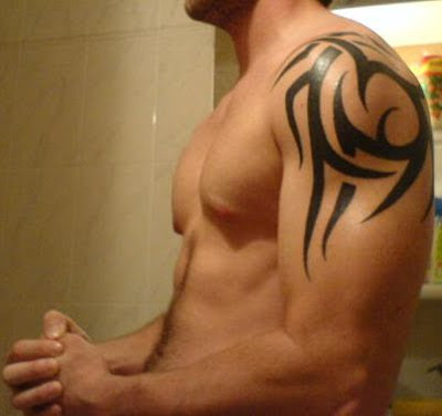 Tribal Tattoos For Men On Neck. i love shoulder tattoos on men