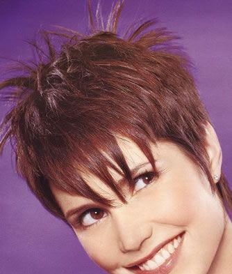 short hairstyles with fringe. Short Hairstyles with long top
