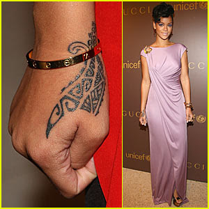Rihanna Hand Tattoo Design