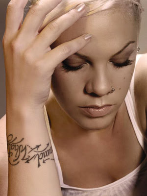 celebrity tattoos, Singer Pink's. Posted by moreno at 6:27 AM