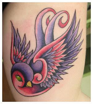 Star tattoo art swallow tattoos for Swallow art tattoo