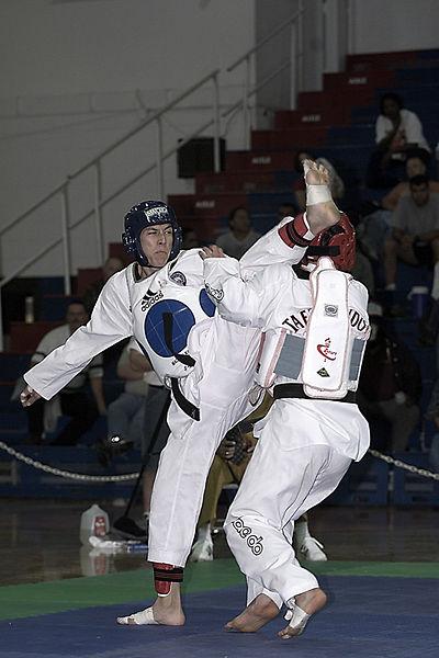 combate de taekwondo