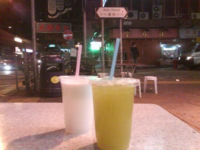 冰凍椰汁及蔗汁