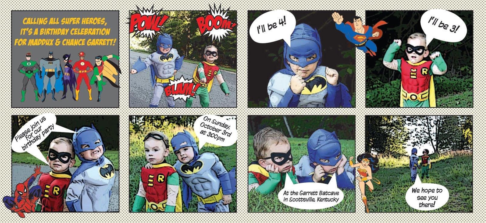 Happy Day Paperie Batman Robin Birthday Invite