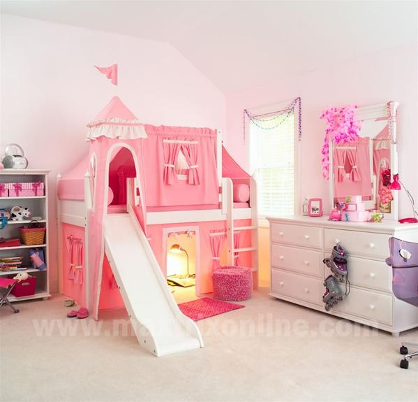 Pretty Beds Fair Of Girls Princess Castle Bunk Bed Photos