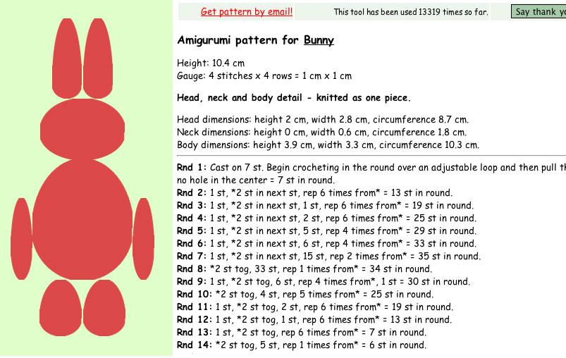 Amigurumi Pattern Generator : Cthulhu Crochet and Cousins: Free Amigurumi Generator