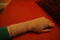 fingerless glove action shot