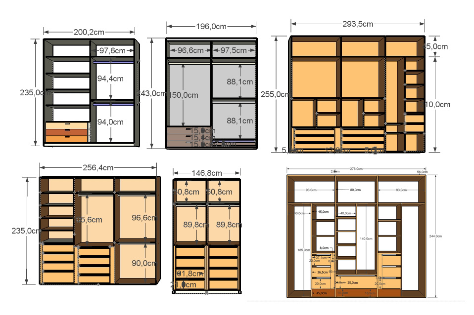 Montadores y carpinteros armarios empotrados a medida - Medidas de puertas correderas ...