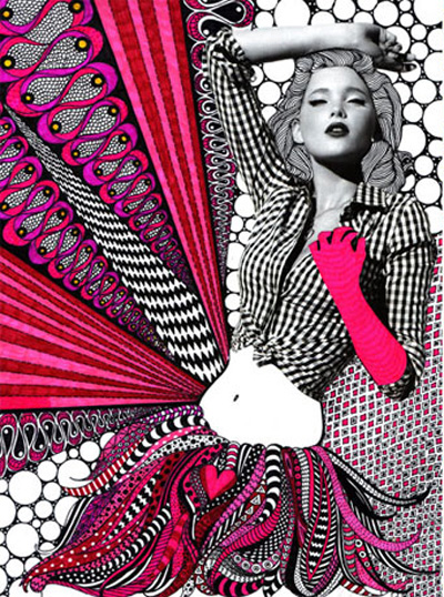 Fashion Website Design on Tweed Design  Fashion Illustration Mania