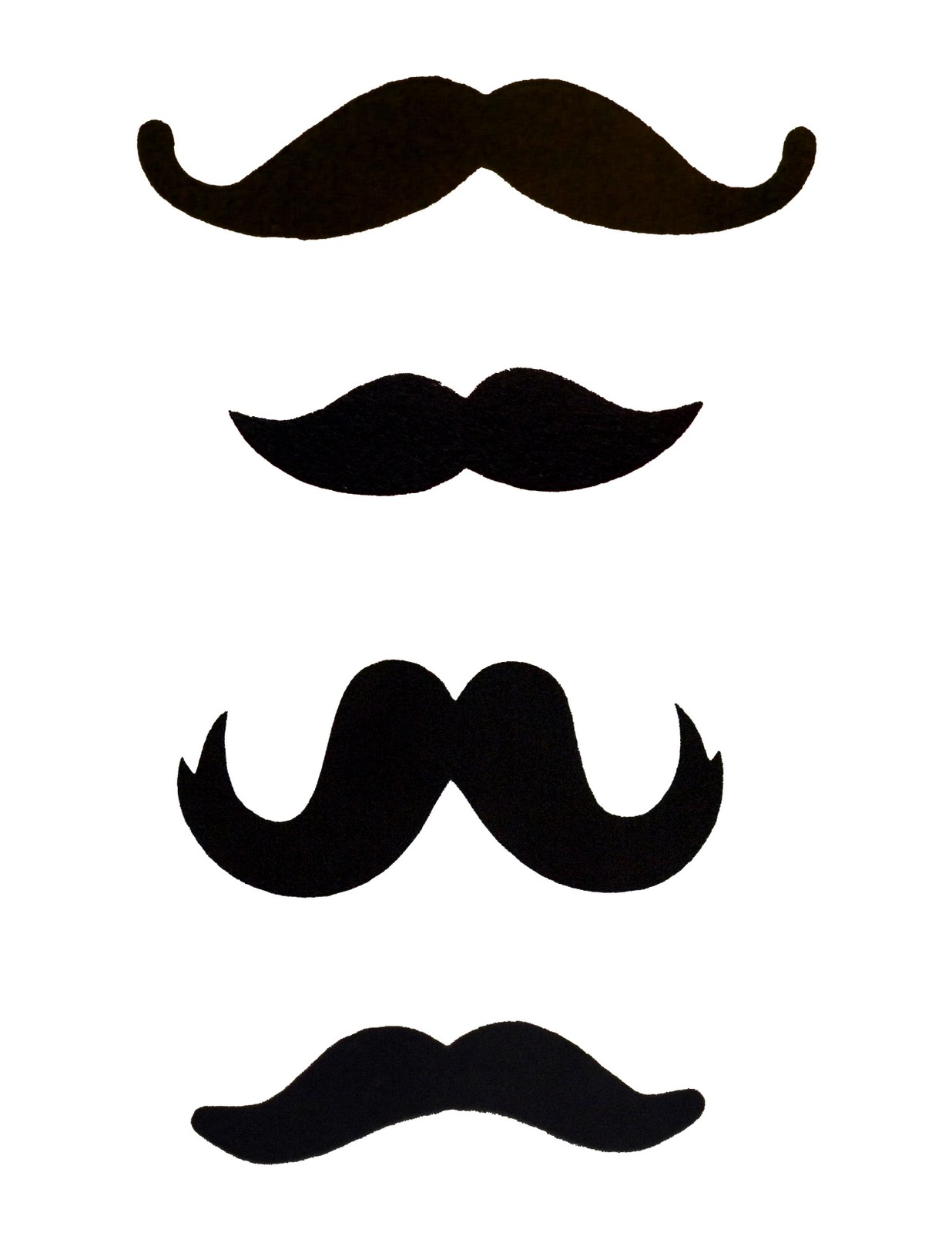 Unforgettable image intended for mustache template printable