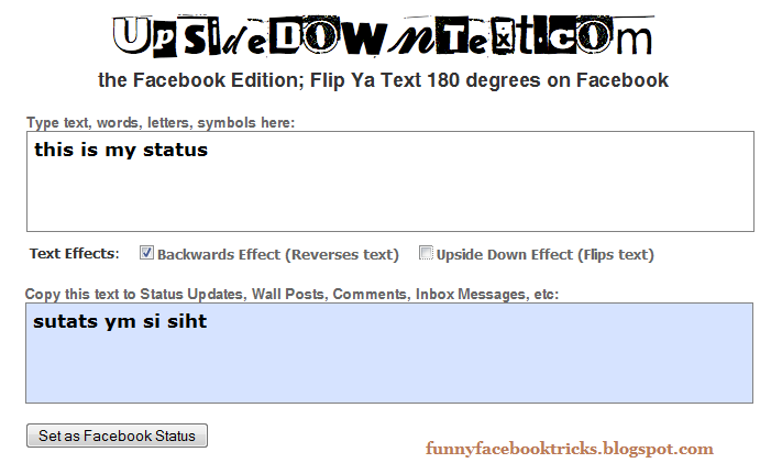upside down writing facebook Do you use images in your facebook marketing in this article, you'll  use up/ down arrow keys to increase or decrease volume listen now:  (and 376 likes  would make many fan pages stand up and cheer) however  then, write out  your messaging in the form of titles, text and calls to action don't go.