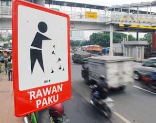12 Lokasi Rawan Paku di Jakarta