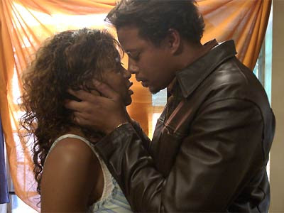 Terence Howard and Taraji P. Henson in 'Hustle and Flow.' sexy picture