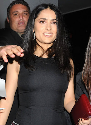 Salma Hayek Looking Sexy in Mexican Dress