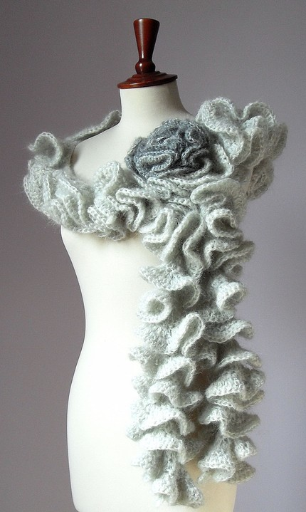 Easy Lace Scarf Knitting Pattern