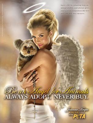 Joanna Krupa Photo Shoot For PETA ads hot pics