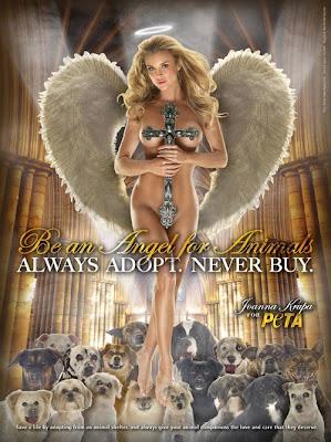 Joanna Krupa Photo Shoot For PETA ads photo