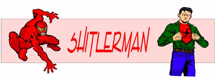 Shitlerman el villano de Parodia cómics