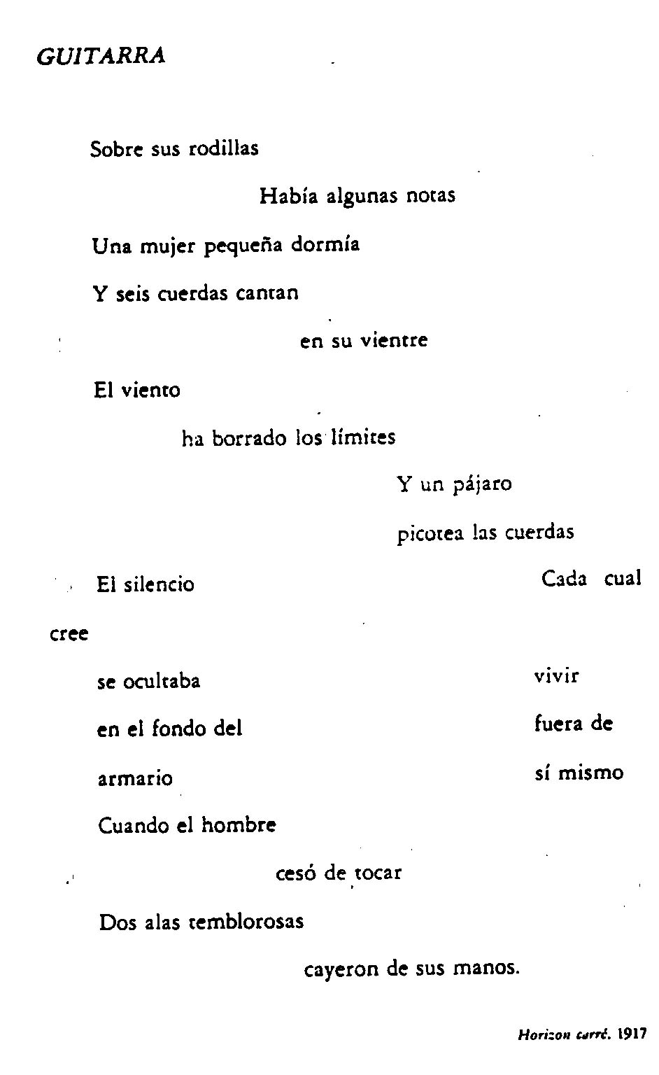 Poemas De Vanguardia