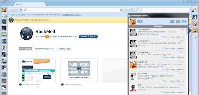 RockMelt Browser Twitter