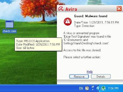 avira virus alert