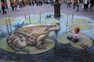 Desenhos na calçada pintados por Julian Beever 1