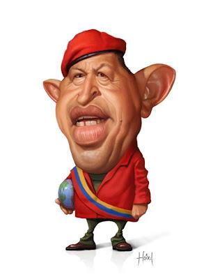 Caricatura de Hugo Chaves
