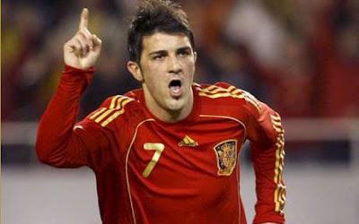 David Villa, atacante da seleção espanhola