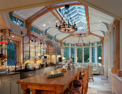 Summer Kitchen Ideas on Willow Decor  An English Tudor Adds A Conservatory Kitchen
