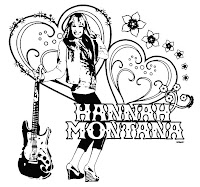 Free printable coloring pages april 2009 for Hannah montana coloring pages free to print