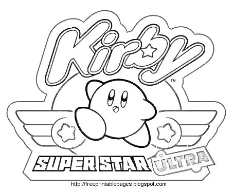Coloring cabin kirby coloring pages of nintendo kirby for Nintendo coloring pages