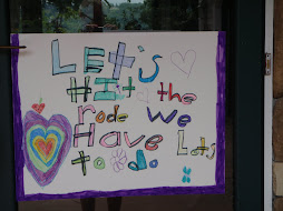 sign on the door on arrival made by claire