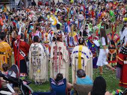 Pow wow festival of mdewanketom sioux native americans