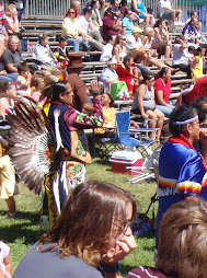 Indian filming the Pow wow