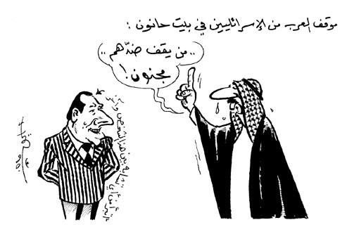 كاريكاتير الخبر: الملك عبد الله من يقف ضدهم مجنون والمخابرات  السعودية لتمول عمرو أديب وقناته
