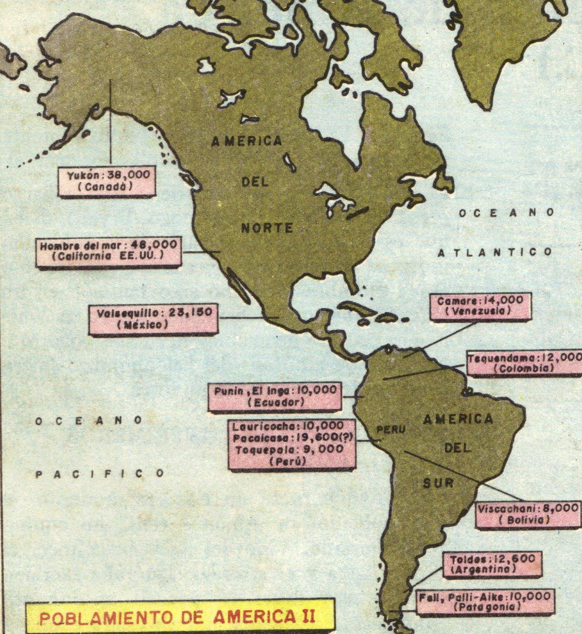 mapa de los primeros habitantes de america del norte