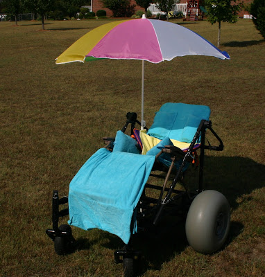 Uncommon Needs: DIY Beach Wheelchair