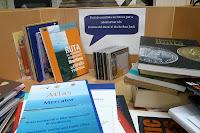 Recollida de llibres per Sant Jordi 2010 a la Biblioteca del Museu Marítim de Barcelona