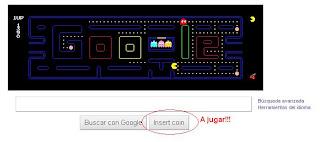 Pac-Mac incrustado en el logo de Google, se puede jugar en el