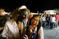 Zombie walk 2009 Sitges, muerto viviente a punto de comerseme el cerebro, me salvé por los pelos