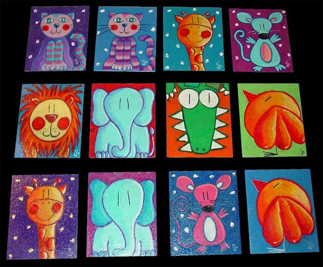 Cuadritos 9 x 11 cms. para los niños de Tuxpan y TTIG