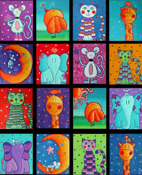 Cuadritos 13 x 16 cms. para las niñas de Tuxpan y TTIG