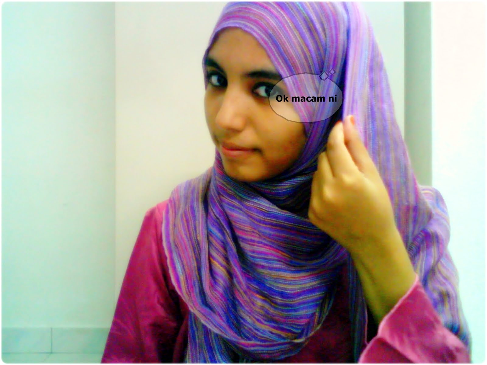 Cara Memakai Shawl Pashmina Gaya Gadis Arab ~ ScaniaZ