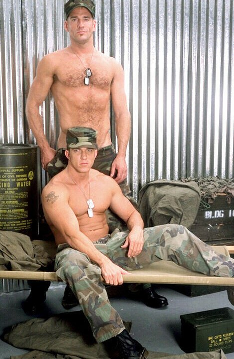 Gay soldiers ready for a hot wild dare action. Lots of overflowing fluid ...