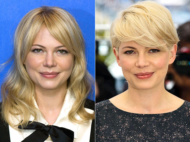 michelle williams hair short. michelle williams short hair